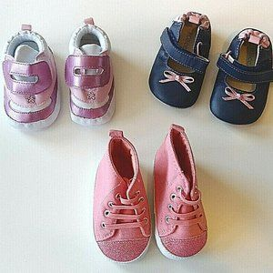 Robeez & Carters Set of 3 Baby Girls Shoes